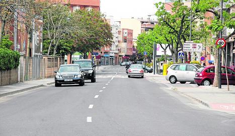Imatge d'arxiu de l'avinguda d'Artesa, al barri de la Bordeta de Lleida.