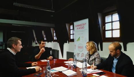 Una de les reunions fetes ahir a la capital de l'Alt Urgell.