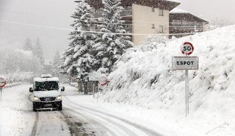 L'entrada a Espot, al Pallars Sobirà, aquest dijous.