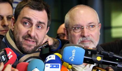 Els exconsellers Toni Comín i Lluís Puig.