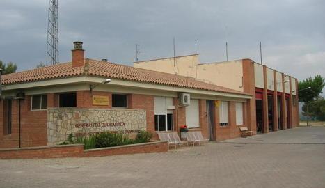 Vista de l'actual del parc de bombers de Balaguer.