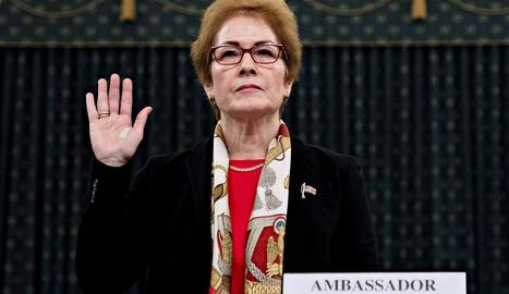L'exambaixadora a Ucrania, Marie Yovanovitch, davant del Congrés.