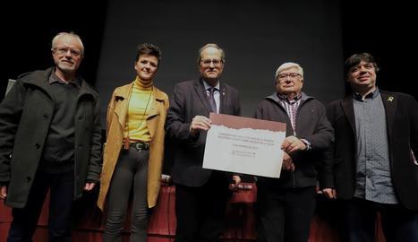Torra va presidir ahir l'acte commemoratiu del 1.100 aniversari de Maçanet de la Selva.