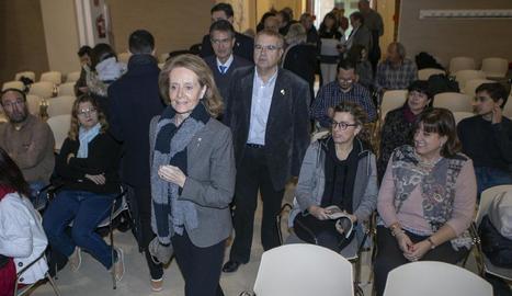 Mariàngela Vilallonga va inaugurar el Fòrum Auriga a l'Auditori de Cervera.