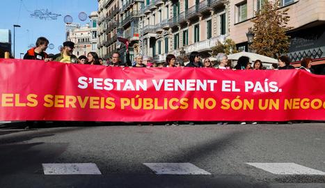 Cap de la manifestació contra la 'llei Aragonès'.