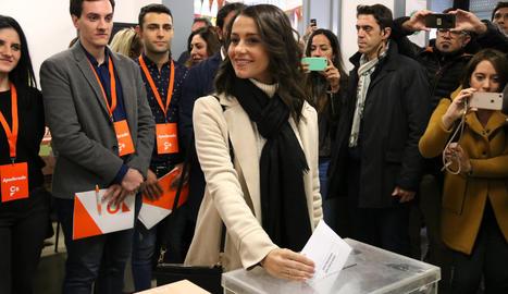 La portaveu de Cs, Inés Arrimadas.