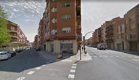 Carrer Corts Catalanes a l'alçada del carrer Alcalde Porqueres