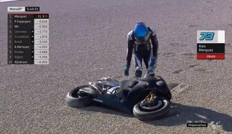 Àlex Márquez estrena la MotoGP amb una caiguda