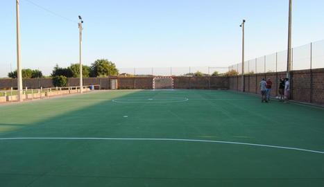 La pista de futbol que es va construir el 2017.