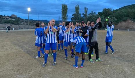 Els jugadors del Vilanova, amb Sarr a la dreta, aquesta temporada.