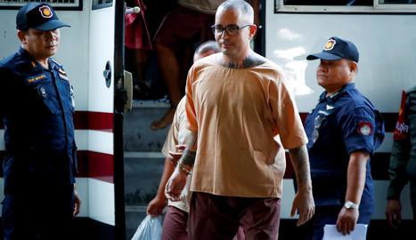 Artur Segarra, ahir a l'arribar al Tribunal Penal de Bangkok per prestar declaració.