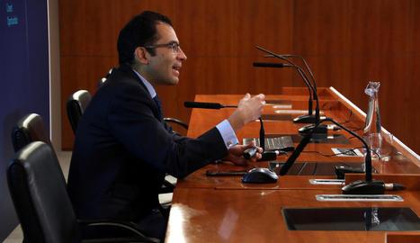 Miguel Cardoso va presentar a Barcelona l'informe del BBVA.