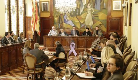 Una imatge del ple de la Diputació de Lleida d'aquest dijous.