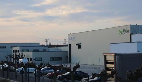 Vista de l'empresa Milsa-Avitel, al peu de l'Ll-11 a Lleida.
