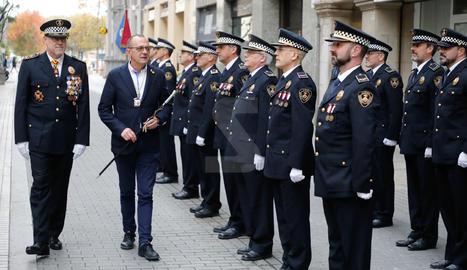 És un dels actes de commemoració de Santa Cecília, patrona de la Policia Local,