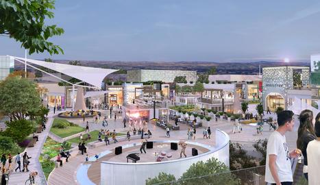 Imatge virtual del centre comercial que projecta Carrefour al costat de l'Ll-11.