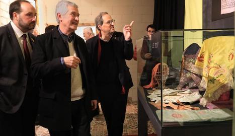 Quim Torra va inaugurar una exposició al Miracle, a Riner.