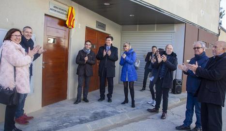La inauguració, presidida per Miquel Àngel Cullerés.