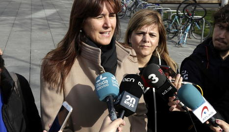 La portaveu de JxCat al Congrés, Laura Borràs, ahir a Lleida.