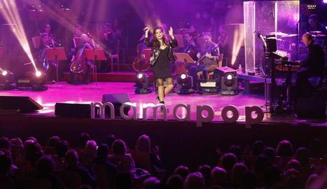 Un instant del concert d'ahir a l'auditori Enric Granados.