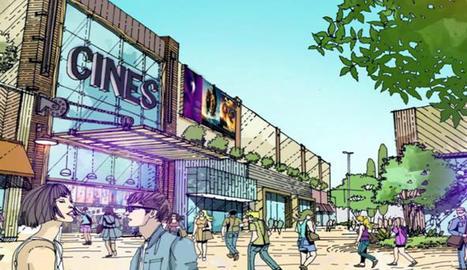Recreació del futur parc comercial a Torre Salses