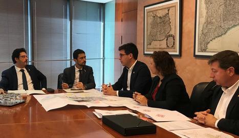 Postius i Calvet, durant la reunió ahir a Barcelona.