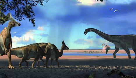 Restes trobades als Nerets dels primers lambeosaures.