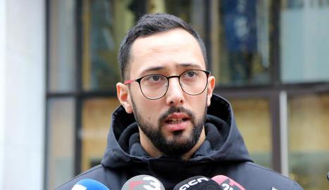 Josep Miquel Arenas, àlies Valtònyc, ahir a Brussel·les.