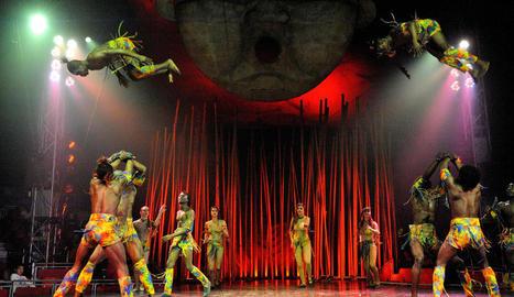 Un dels números acrobàtics d'Il Circo Italiano, amb més de seixanta anys d'experiència.