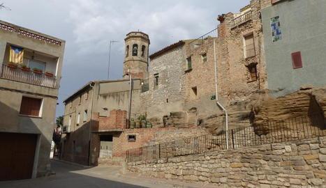 La zona de la Vileta, al centre històric d'Artesa de Lleida.