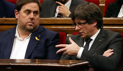El Tribunal de Comptes cita Puigdemont i Junqueras per les despeses de l'1-O
