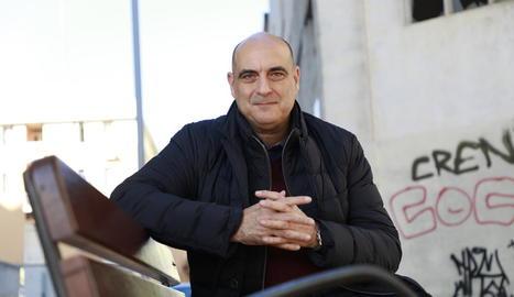 L'escriptor i periodista Xavier Bosch, ahir a Lleida.