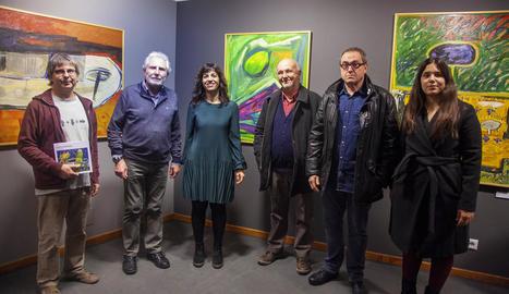 Inauguració ahir al Museu Comarcal de l'Urgell de l'exposició, oberta fins el 20 de gener.
