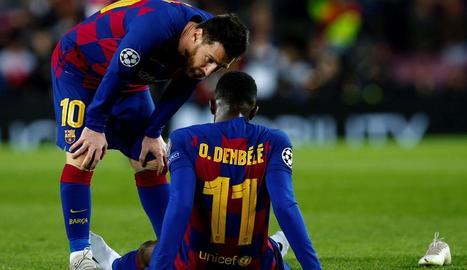 Messi s'interessa per Dembélé dimecres al caure aquest lesionat.