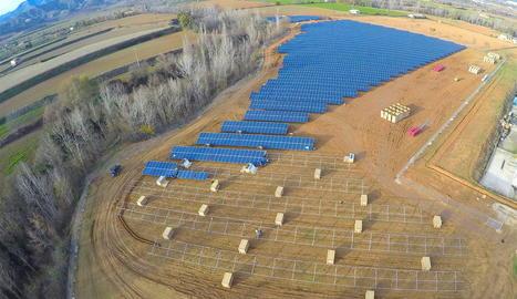 Imatge d'arxiu del nou parc solar a Talarn, al Jussà.