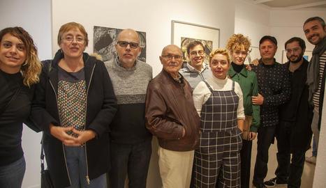 Inauguració ahir a l'Espai Guinovart de l'exposició, que podrà visitar-se fins al 23 de febrer.