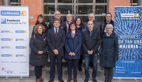 Un moment de la presentació ahir de les activitats de La Marató a Tàrrega.