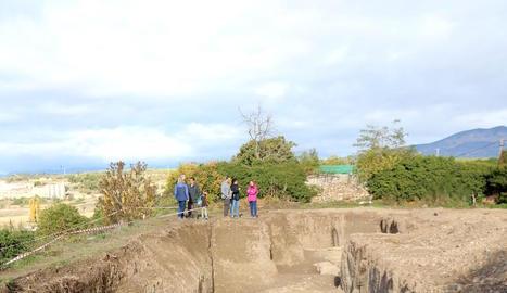 Restes romanes de l'última excavació a Aeso, l'octubre passat.