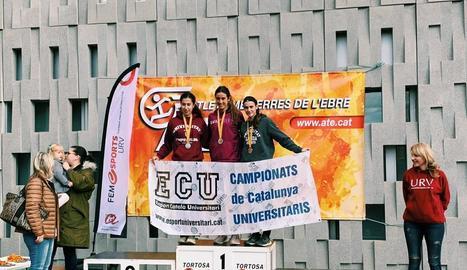 Tres medalles per a la UdL al Català