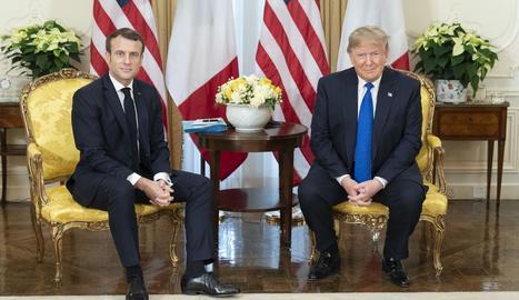 Macron i Trump van mantenir ahir una tensa reunió.