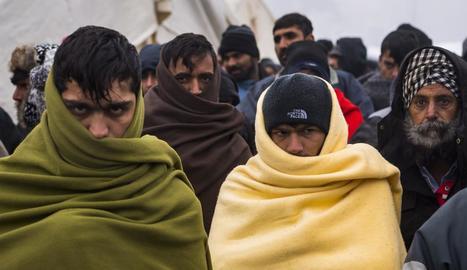 Els refugiats, uns 600, viuen amb temperatures sota zero.