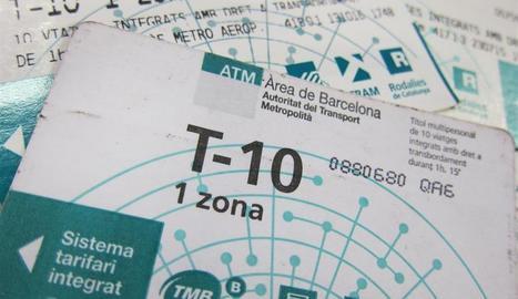 Adéu a la T-10 i als bitllets compartits per moure's per Barcelona