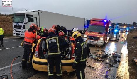 Tres persones van morir en aquest accident a Castelló.