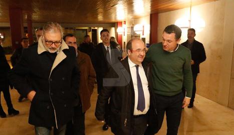 El primer secretari del PSC, Miquel Iceta, a Lleida
