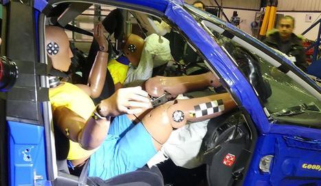 Una imatge del 'crahs test' realitzat pel RACE.