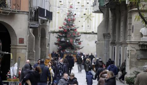 Vista de l'Eix Comercial de Lleida.