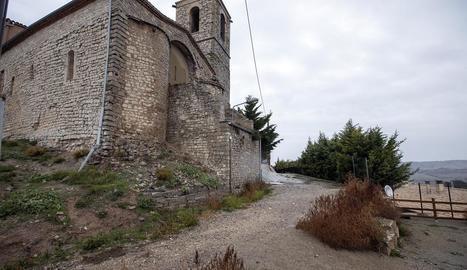Imatge del carrer de la Baixada de l'Església de Rubinat.