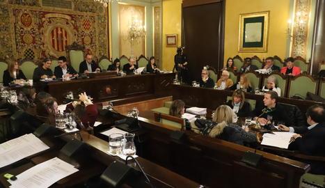 Una imatge dels membres del ple durant la sessió celebrada el 29 de novembre.