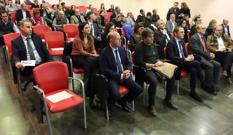 Imatge d'una jornada celebrada pels economistes de Lleida fa només uns dies.