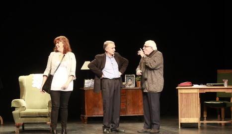 Un dels moments de l'espectacle 'Ai, carai!', que va tenir lloc ahir al Teatre de l'Escorxador.